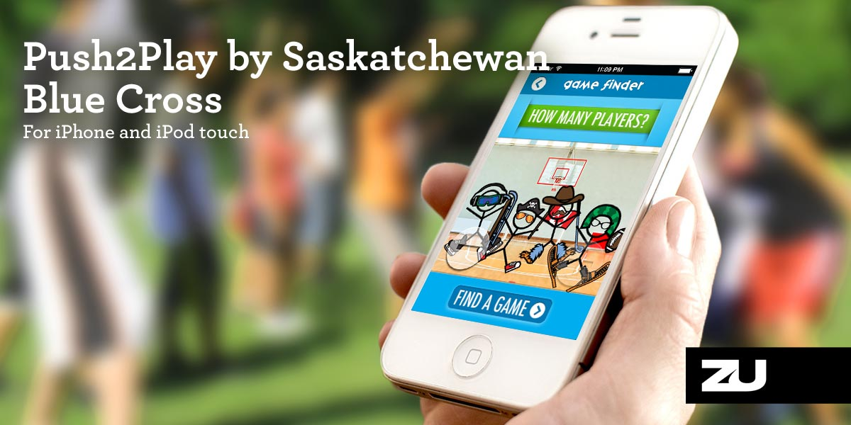 Push2Play by Saskatchewan Blue Cross iPhone app