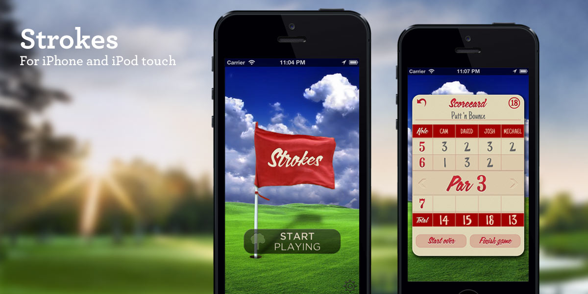 Strokes - The Simple Scorecard for Golf and Mini Golf iPhone App